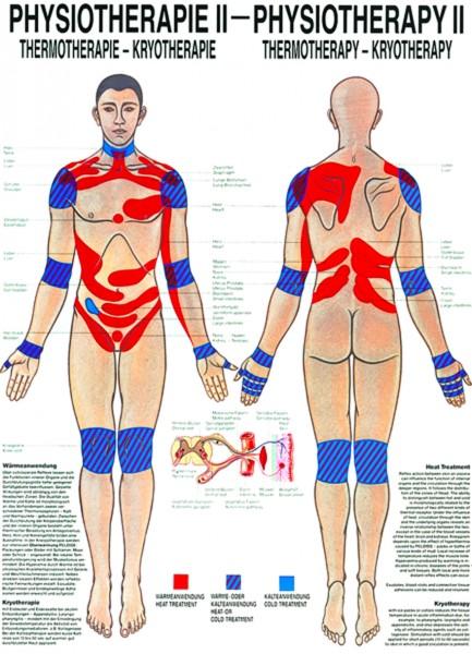 Anatomische Lehrtafel - Physiotherapie II, Thermotherapie