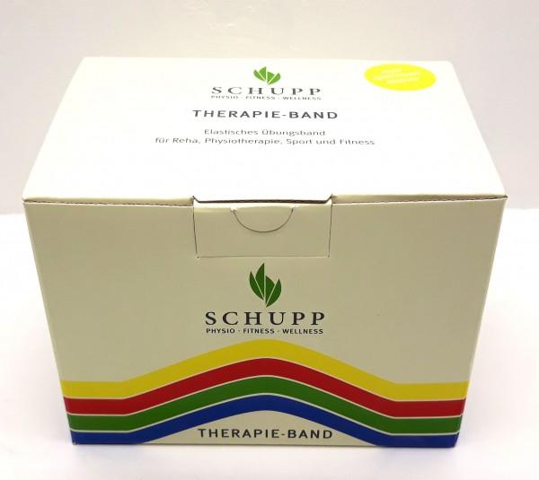 Schupp Therpieband 25 m Rolle, leicht, gelb