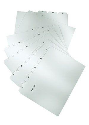 Zubehör Tischkarteikartentrog - Register A - Z, 25-teilig