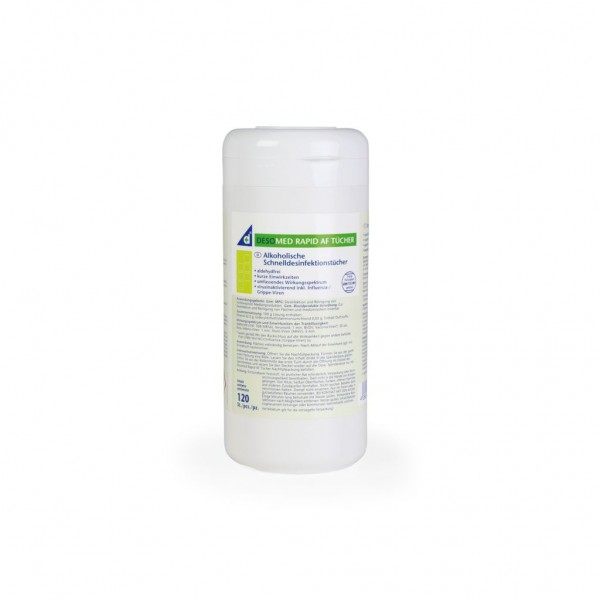 Desomed Rapid Desinfektionstücher mit Lemonduft - Dose 120 Tücher