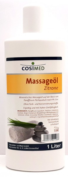 Cosimed Massageöl Zitrone 1 Liter