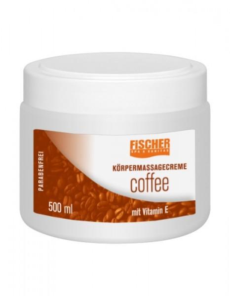 Fischer Massagecreme Coffee - 500 ml